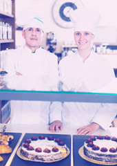 Bakery employees at counter