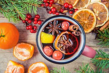Christmas drink. Selective focus.