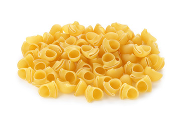 pasta lumache on a white background