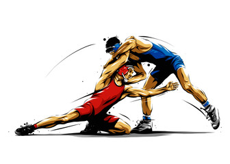 wrestling action 5