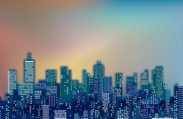 blurry color cityscape