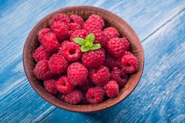 Sweet red dessert raspberry