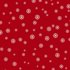 Snow Flake Red Background
