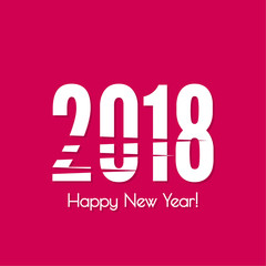 2018 Happy new year vector dynamic background. for greeting card, flyer, invitation, poster, brochure, banner, calendar Christmas Meeting events