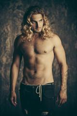 shirtless sports man