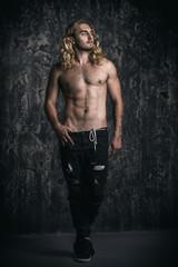 sexual athletic man