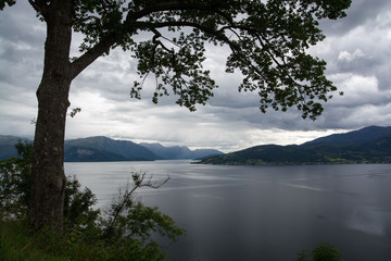 Hardangerfjord, Hordaland, Norwegen