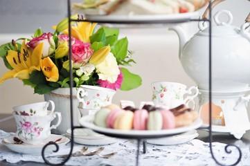 traditional English tea, high tea