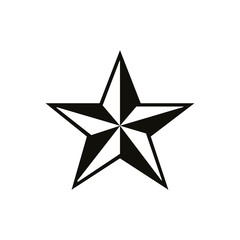 Black and white star icon - vector icon