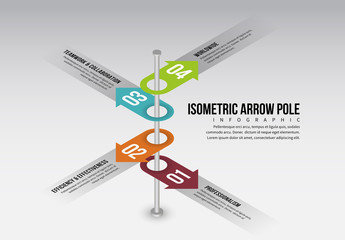 Isometric Arrow Pole Infographic