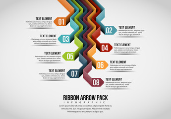 Ribbon Arrow Pack Infographic