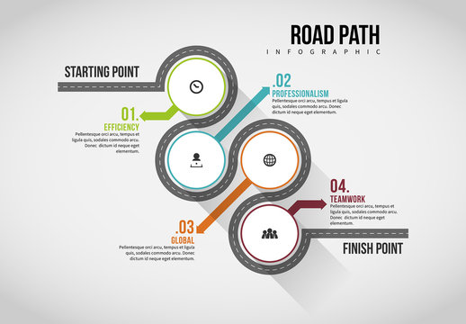 Road Path Infographic