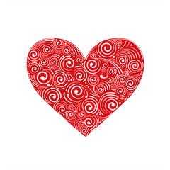 Hochzeit Herz Ornament Rot