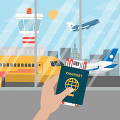 Passport for airport.