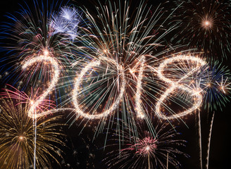 New year fireworks 2018
