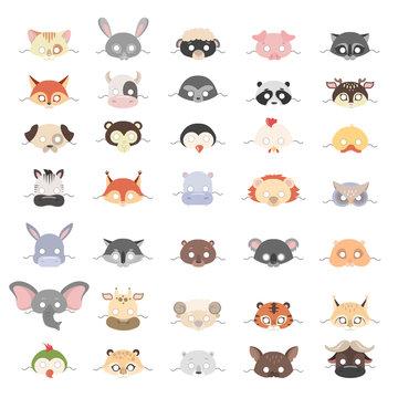 Animal masks set.