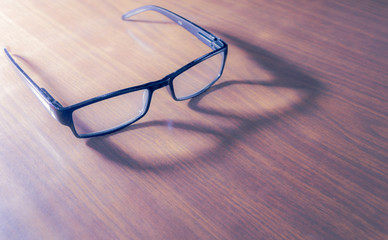 Eyewear on Wood