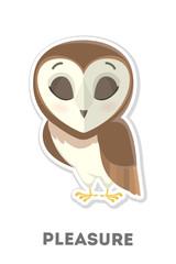 Isolated pleasured owl.