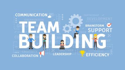 Team building concept illustration.