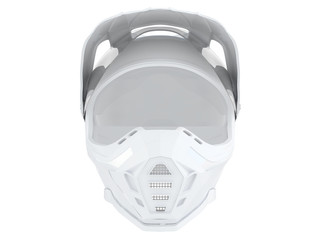 rider helmet for race with black or white accesories on a white background 3d rendering