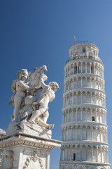Fototapete - Leaning Tower of Pisa in Tuscany, Italy