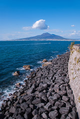 Breakwater on the road Sorrento peninsula