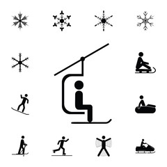ski lift icon. Set of elements Christmas Holiday or New Year icons. Winter time premium quality graphic design collection icons for websites, web design, mobile app