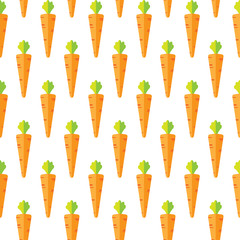 Carrot stock vector seamless pattern on blue background for wallpaper, pattern, web, blog, surface, textures, graphic & printing