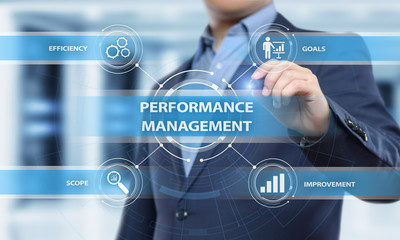 Performance Management Efficiency Improvement Business Technology concept Wall mural