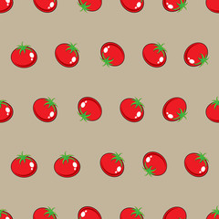 red tomato stock vector seamless pattern on blue background for wallpaper, pattern, web, blog, surface, texture, graphic & printing.