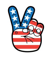 Peace Sign symbol hand