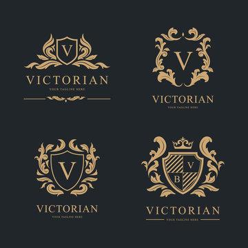 Luxury Logo set. Vector Logo template.