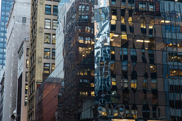 NEW YORK, USA - NOV 27, 2017: 5th Ave and 45nd Street, Midtown Manhattan, New York City, United States