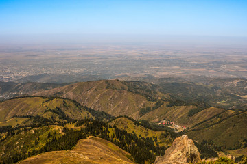 Mountain landscape in Almaty region, Kazakhstan 2017