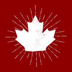 Maple Leaf Sunburst