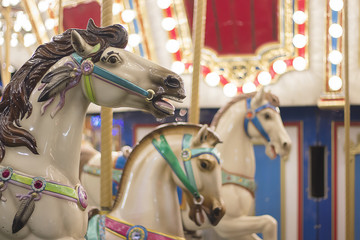 Christmas carousel ride in the City