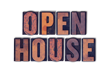 Open House Concept Isolated Letterpress Word