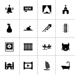 Art icons. vector collection filled art icons