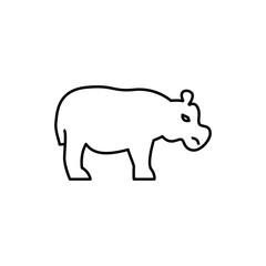 hippopotamus icon illustration
