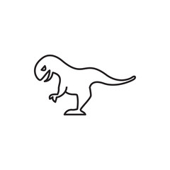 dinosaur icon illustration