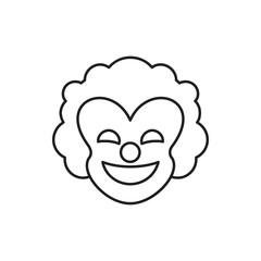 clown icon illustration