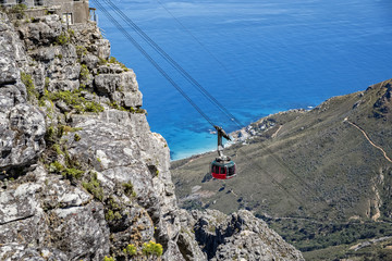 Cape town table mountain cable car summit