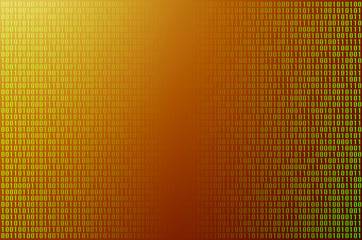An image of a binary code made up of a set of green digits on a black background. Toned