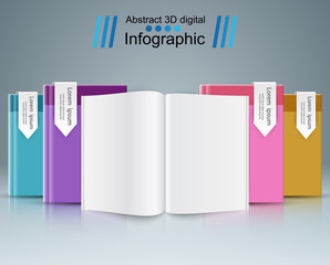 Paper book - business infographic.