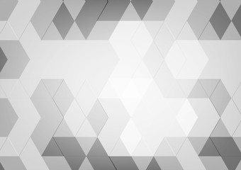 Abstract geometric Black and White color  with copy space for Business Concept, Vector illustration background