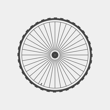 Vector wheel icon. Wheel on white background
