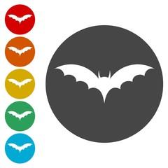 Bat Silhouette, Bats icons set