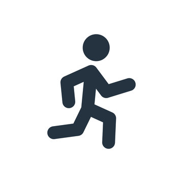 running icon on white background