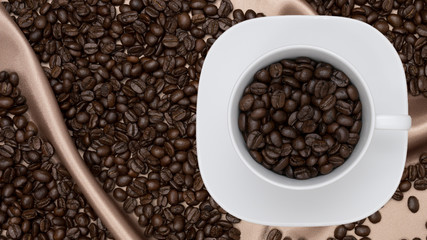 Roasted coffee beans as a background