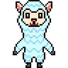 vector pixel art alpaca